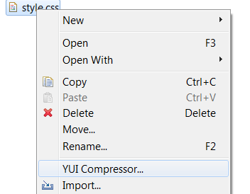 CSS/JS Compression in Eclipse with the Spket IDE   Bar54