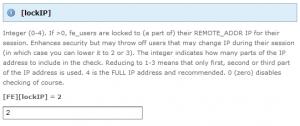 Typo3 lockIP Configuration