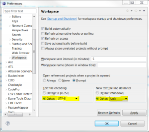 eclipse-workspace-settings